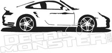 Porsche Silhouette Wall Decal DM