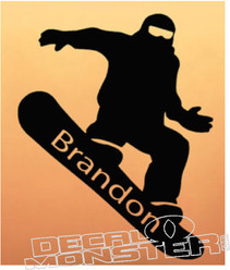 Snowboarder Wall Decal DM