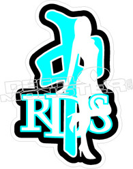 RDS Girl Decal Sticker