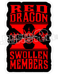 Red Dragon Swollen Members Decal Sticker