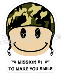 Mission1 Make You Smile Decal Sticker