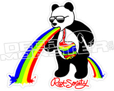 Riot Society Panda Puke Decal Sticker