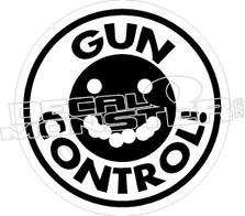 Gun Control Decal Sticker