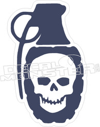 Skull Grenade Decal Sticker