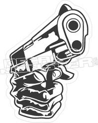 Gun Hand Decal Sticker
