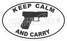 Keep Calm and Carry Decal Sticker
