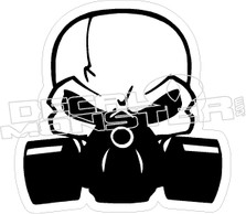 Skull Gas Mask Decal Sticker