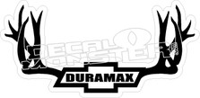 Duramax Antlers Decal Sticker