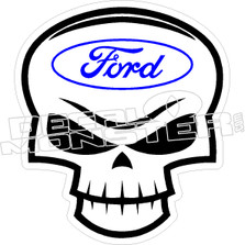 Ford Skull 2 Decal Sticker