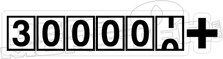300000 Plus Speedometer Decal Sticker