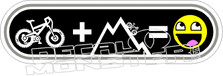 Bike Plus Mountain Equal Fun Decal Sticker