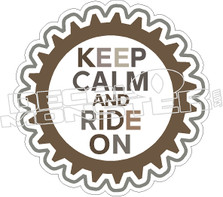 Keep Calm And Ride On Decal Sticker