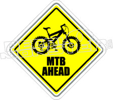 Mountain Bike Ahead Decal Sticker