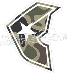 Famous Camo Decal Sticker