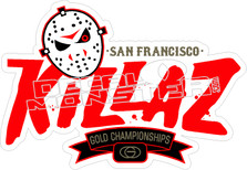 Killaz Gold Decal Sticker
