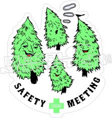 Safety Meeting Decal Sticker