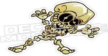 Skull Dude Decal Sticker