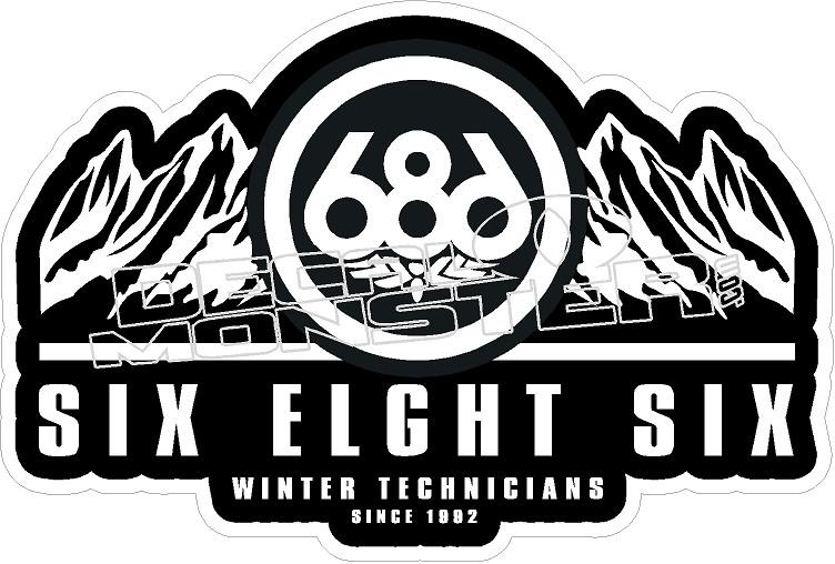 686 Winter Technicians Decal Sticker