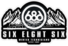 686 Winter Technicians Decal Sticker