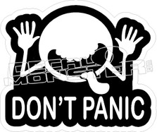 Dont Panic Guy Decal Sticker