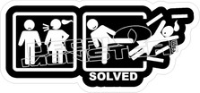 Problem Solved2 Decal Sticker