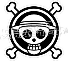 Aname Skull Cross Bones Decal Sticker