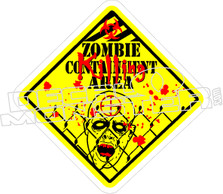 Zombie Killing Area Decal Sticker