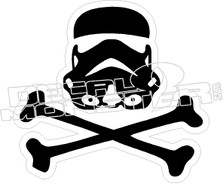 Star Wars24 Storm Trooper Bones Decal Sticker