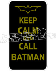 Keep Calm Call Batman Decal Sticker