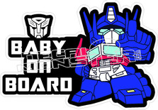 Baby Transformers On Board Decal Sticker