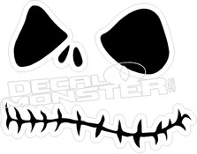 Jack Skeleton Evil Smile Decal Sticker