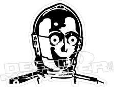 Star Wars C3PO Decal Sticker