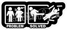 Problem Solved Decal Sticker