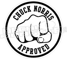 Chuck Norris Approved Decal Sticker