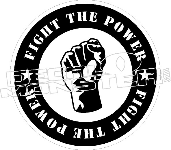 fight the power fist decal sticker decalmonster Funny Dodge Decals categories