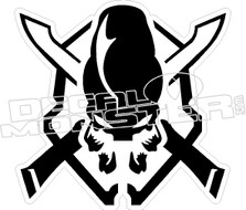 Sword Skull Decal Sticker