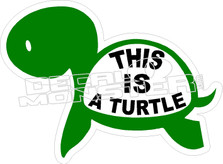 This is a Turtle Decal Sticker