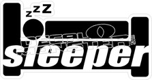 Sleeper Car Decal Sticker