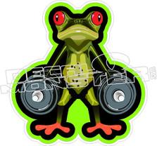 Frog Weight Lifter Decal Sticker