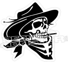 Cowboy Skull Decal Sticker