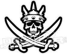 Skull Sword Cross Bones Decal Sticker