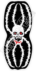 Spider Skull Decal Sticker