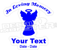 In Loving Memory Angel Decal Sticker