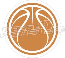 Basketball Decal Sticker