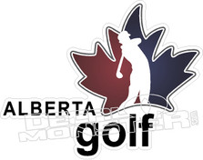 Alberta Golf Decal Sticker