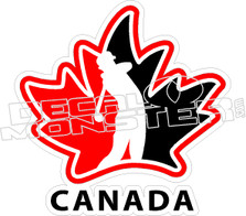 Team Canada Golf Decal Sticker