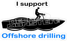 I Support Offshore Drilling Decal Sticker