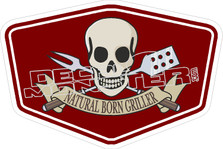 Natural Born Griller Decal Sticker