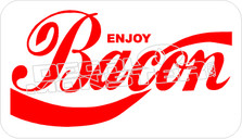 Enjoy Bacon Decal Sticker