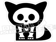 Cat Skeleton Decal Sticker